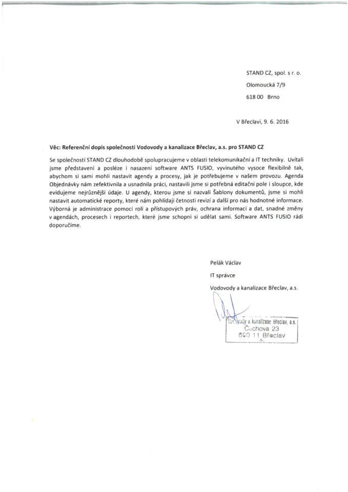 Vodovody a kanalizace Břeclav Fusio