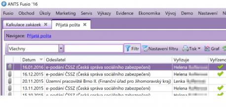 Evidujte firemní poštu elektronicky